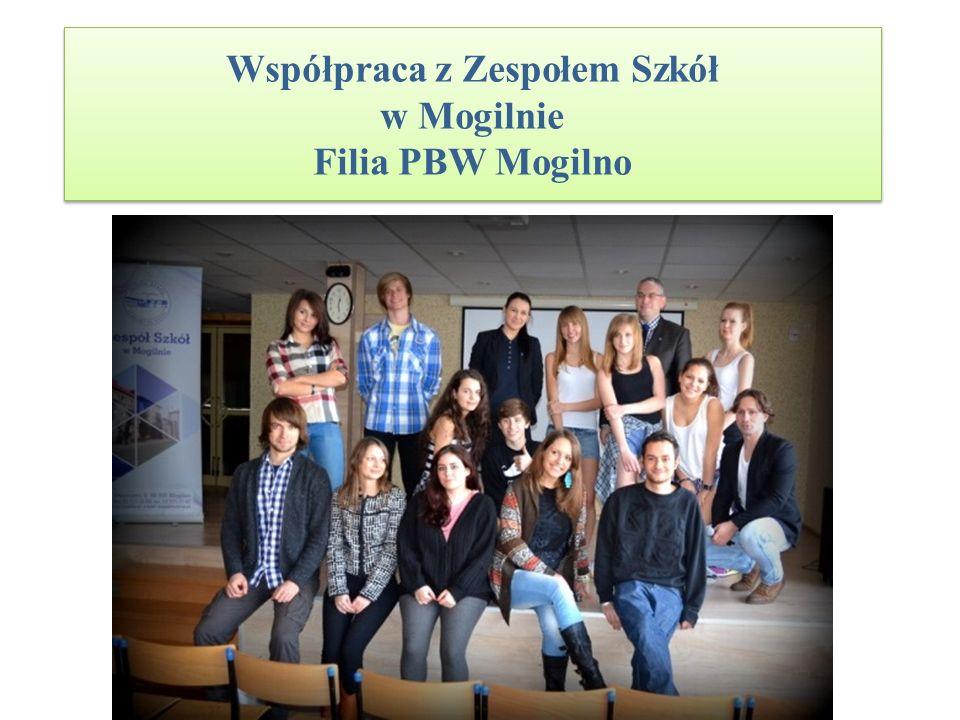 Współpraca z Zespołem Szkół w Mogilnie Filia PBW Mogilno