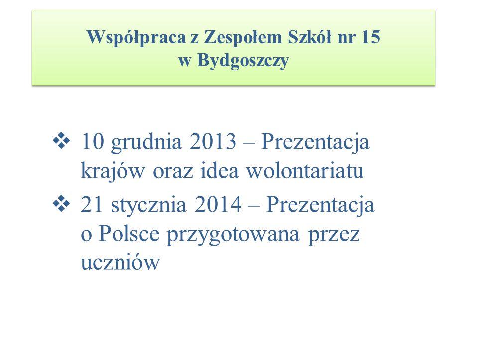 Współpraca z Zespołem Szkół nr 15 w Bydgoszczy