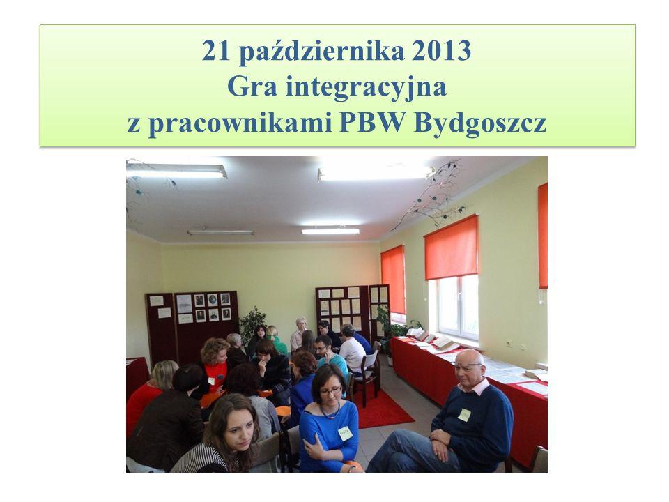 21 października 2013 Gra integracyjna z pracownikami PBW Bydgoszcz