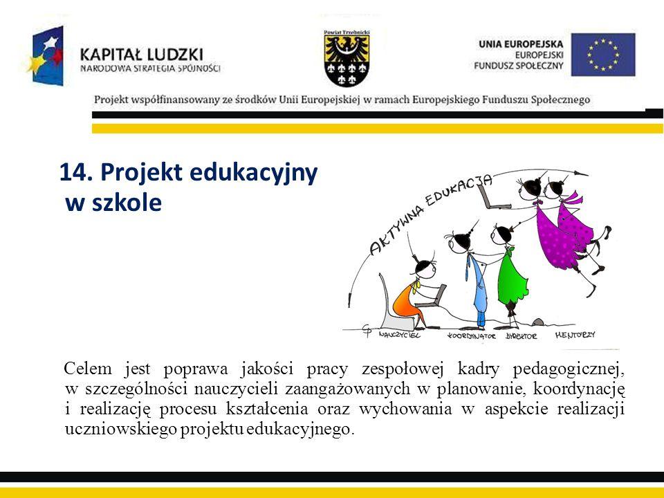 14. Projekt edukacyjny w szkole