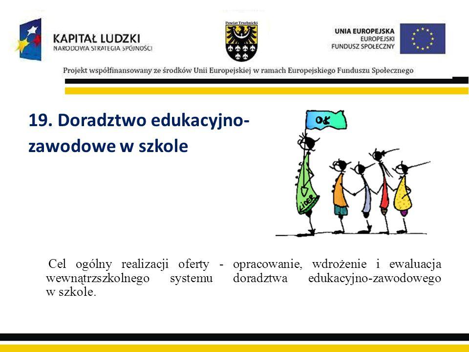 19. Doradztwo edukacyjno- zawodowe w szkole