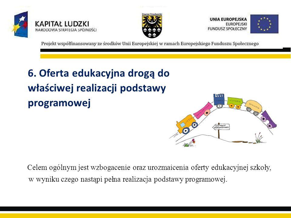 6. Oferta edukacyjna drogą do właściwej realizacji podstawy