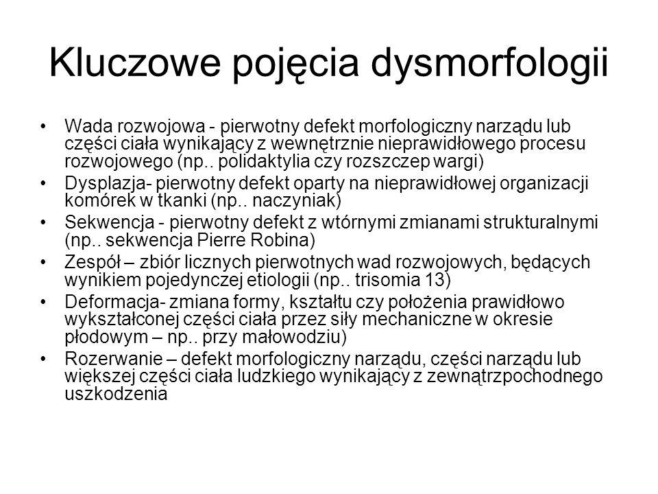 Kluczowe pojęcia dysmorfologii