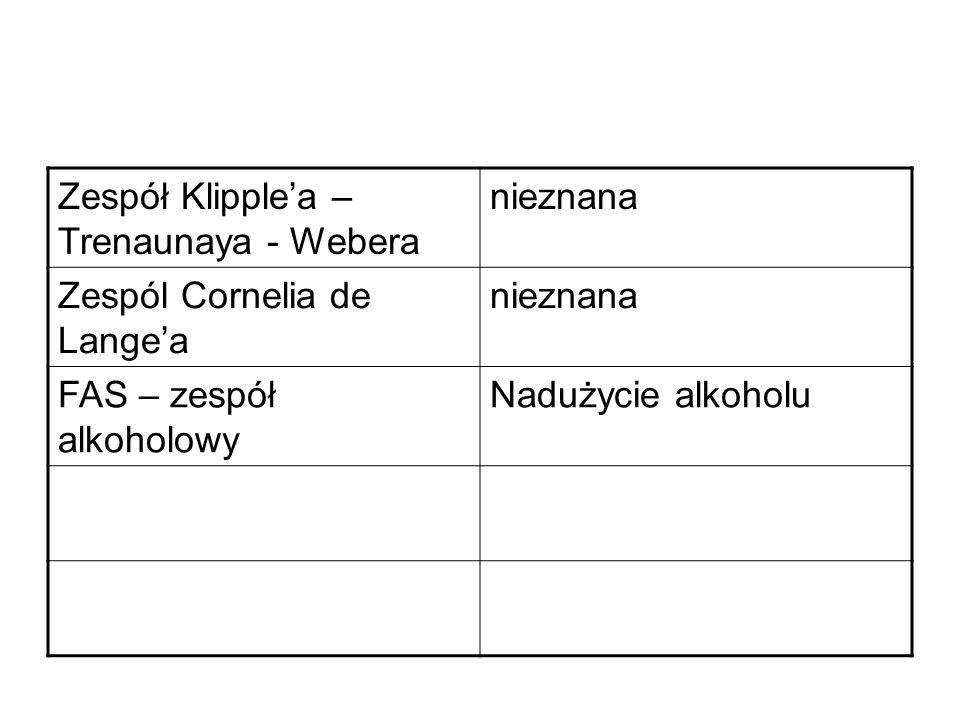 Zespół Klipple'a – Trenaunaya - Webera