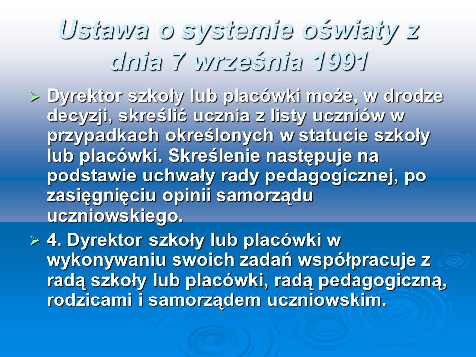 Ustawa o systemie oświaty z dnia 7 września 1991