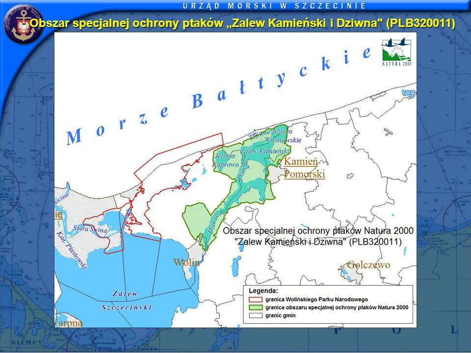 """Obszar specjalnej ochrony ptaków """"Zalew Kamieński i Dziwna (PLB320011)"""