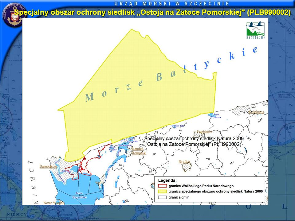 "Specjalny obszar ochrony siedlisk ""Ostoja na Zatoce Pomorskiej (PLB990002)"