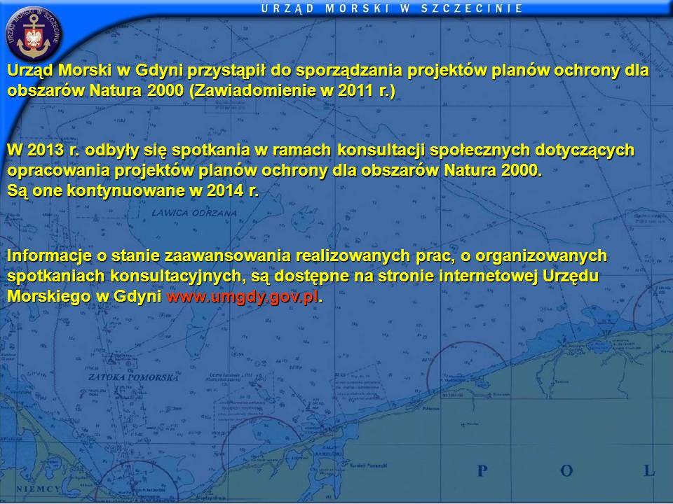 Urząd Morski w Gdyni przystąpił do sporządzania projektów planów ochrony dla obszarów Natura 2000 (Zawiadomienie w 2011 r.)