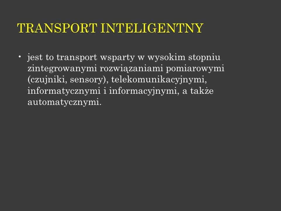 TRANSPORT INTELIGENTNY