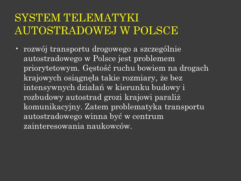 SYSTEM TELEMATYKI AUTOSTRADOWEJ W POLSCE