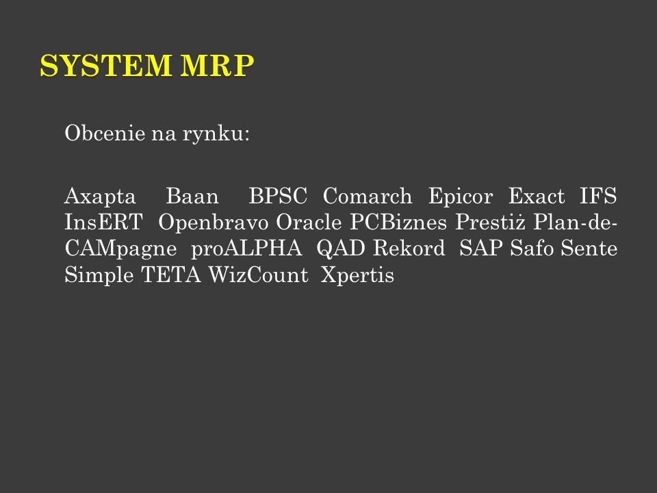 System MRP