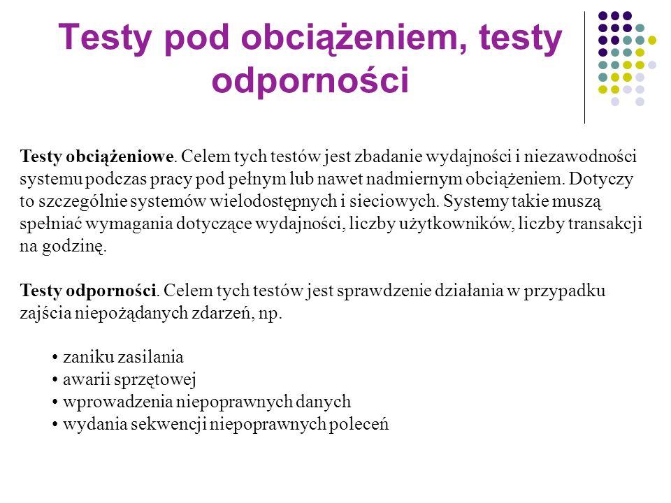 Testy pod obciążeniem, testy odporności