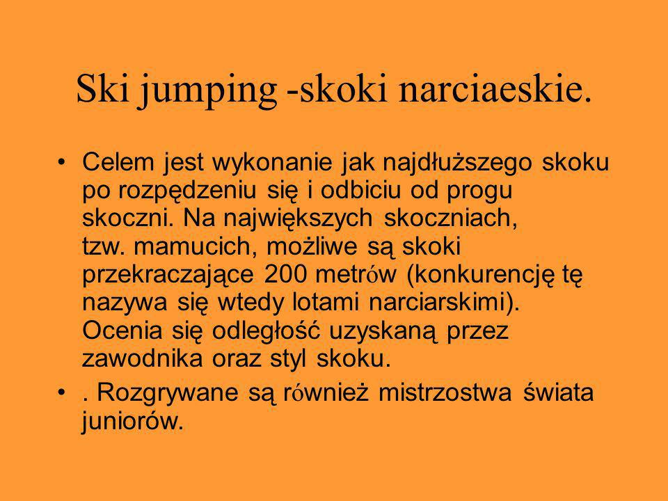Ski jumping -skoki narciaeskie.