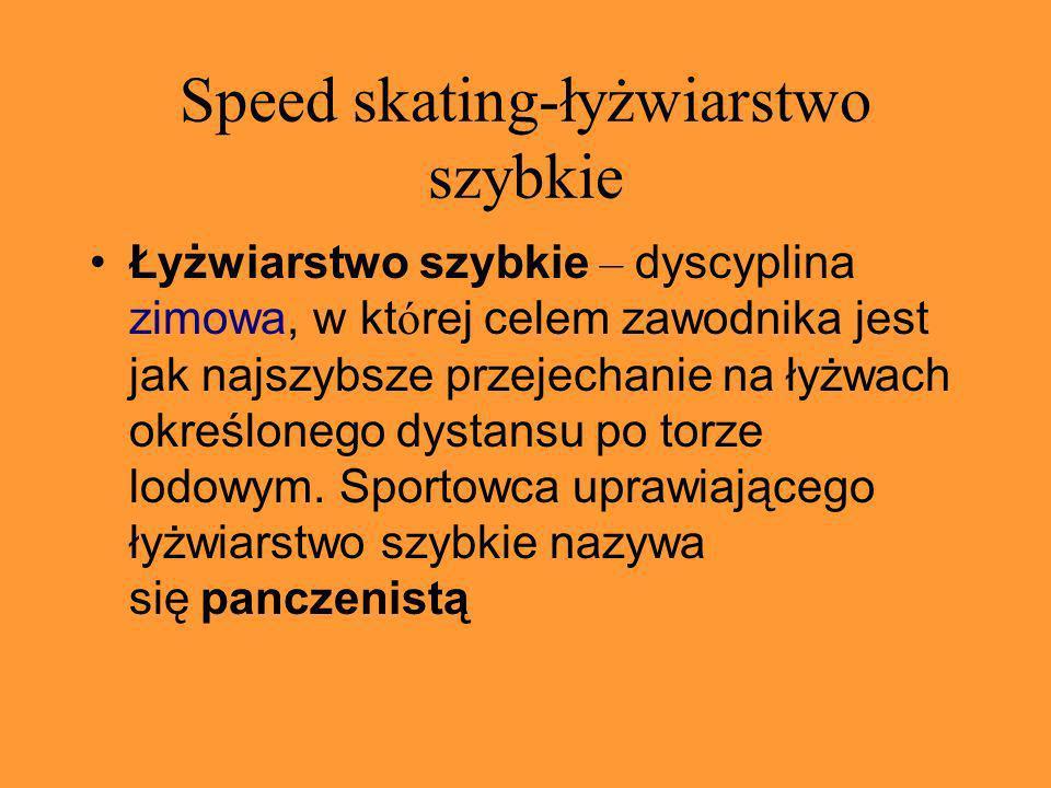 Speed skating-łyżwiarstwo szybkie