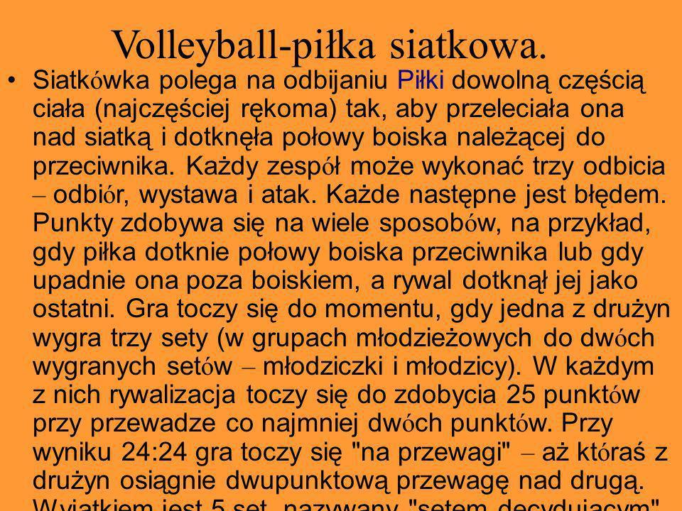 Volleyball-piłka siatkowa.