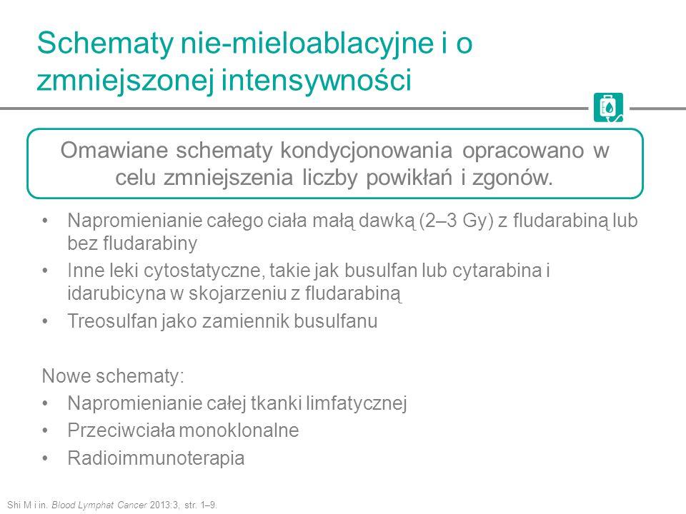 Schematy nie-mieloablacyjne i o zmniejszonej intensywności