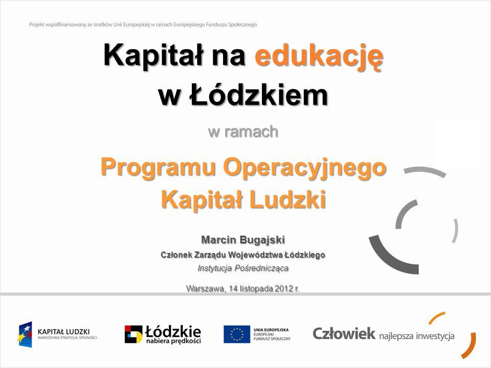 Kapitał na edukację w Łódzkiem