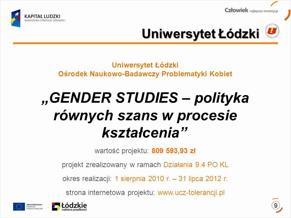 Uniwersytet Łódzki Ośrodek Naukowo-Badawczy Problematyki Kobiet