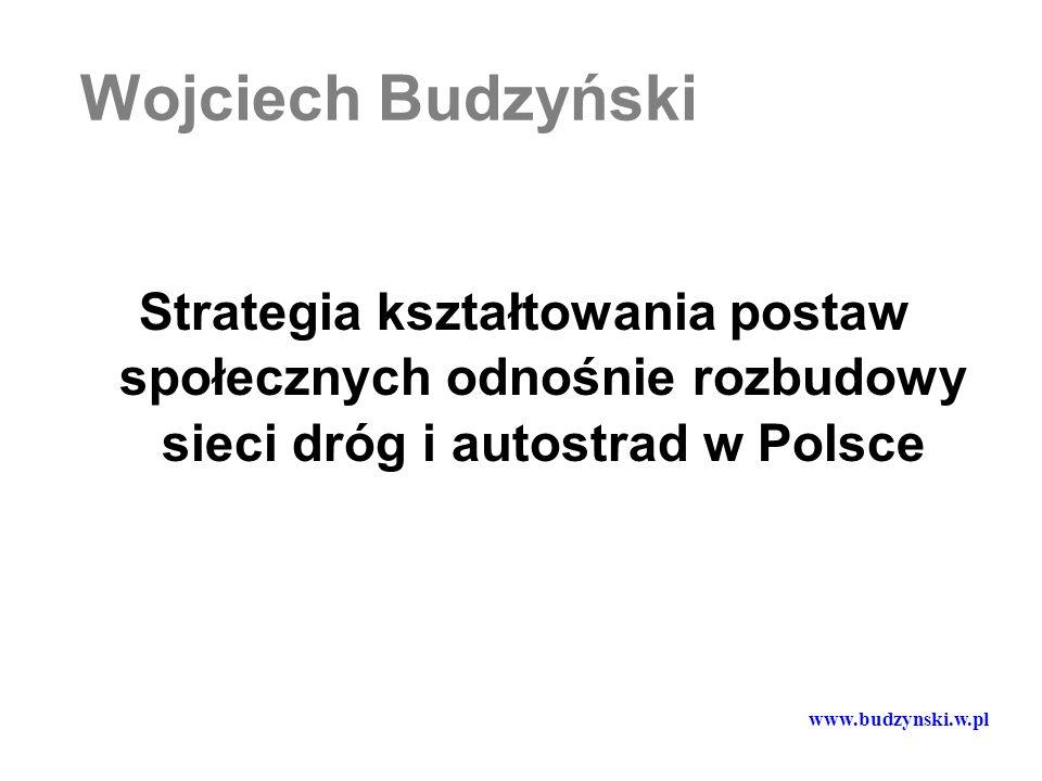 Wojciech Budzyński Strategia kształtowania postaw społecznych odnośnie rozbudowy sieci dróg i autostrad w Polsce.