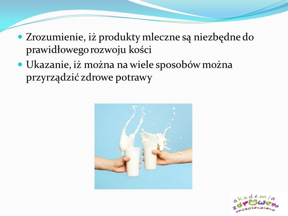 Zrozumienie, iż produkty mleczne są niezbędne do prawidłowego rozwoju kości