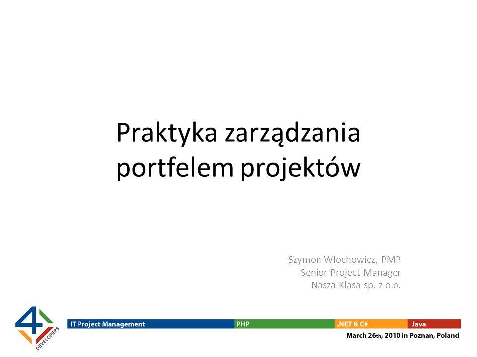 Praktyka zarządzania portfelem projektów