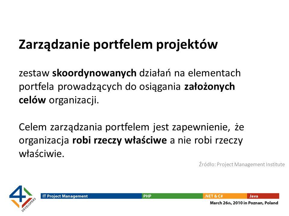 Zarządzanie portfelem projektów