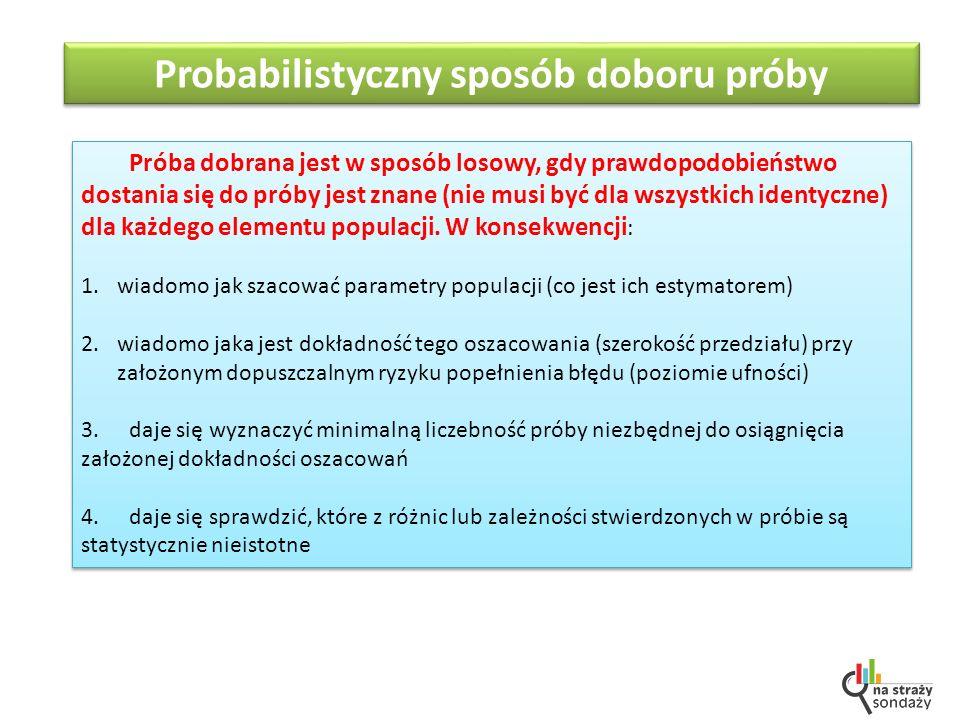 Probabilistyczny sposób doboru próby