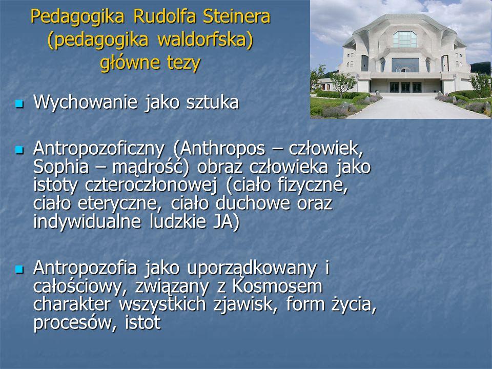 Pedagogika Rudolfa Steinera (pedagogika waldorfska) główne tezy
