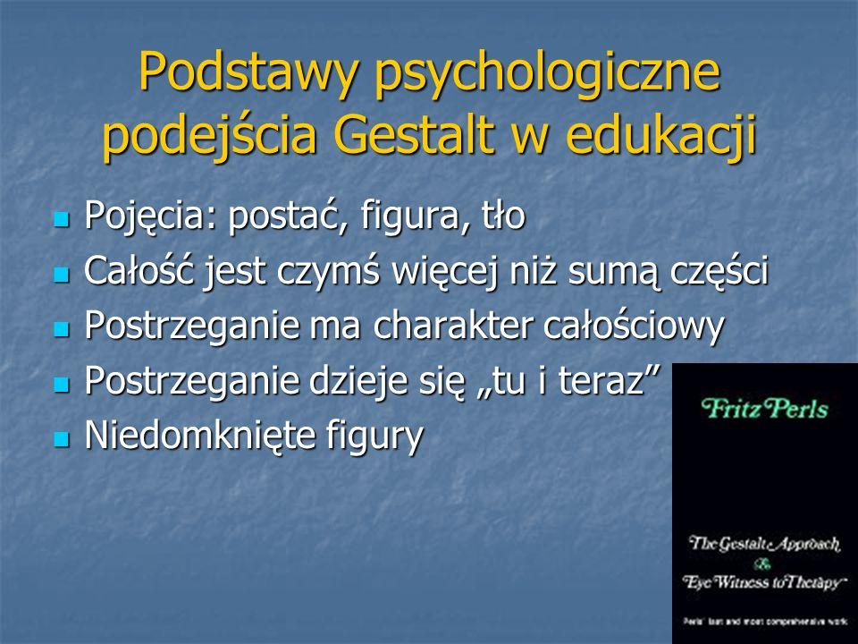 Podstawy psychologiczne podejścia Gestalt w edukacji