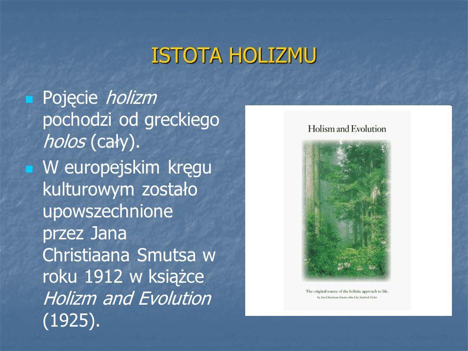 ISTOTA HOLIZMU Pojęcie holizm pochodzi od greckiego holos (cały).
