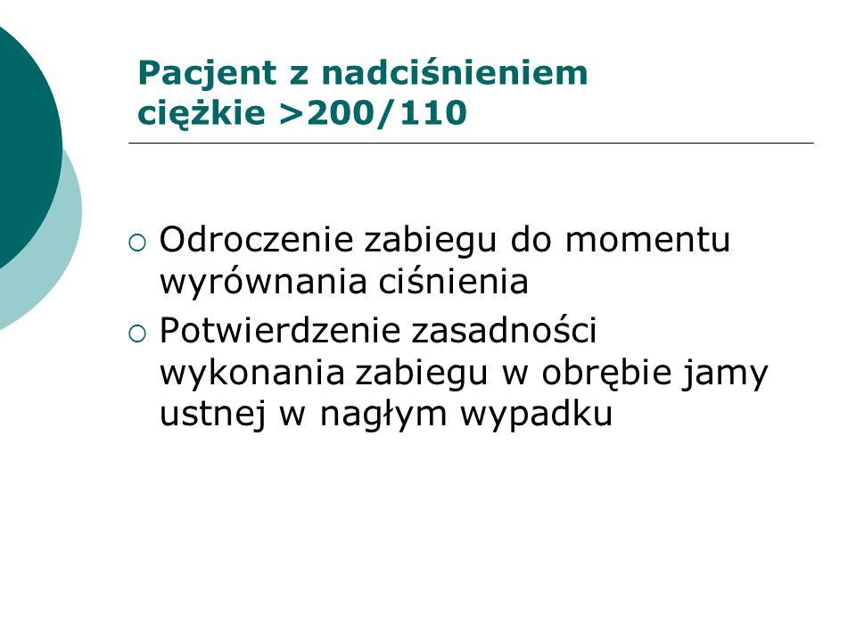 Pacjent z nadciśnieniem ciężkie >200/110
