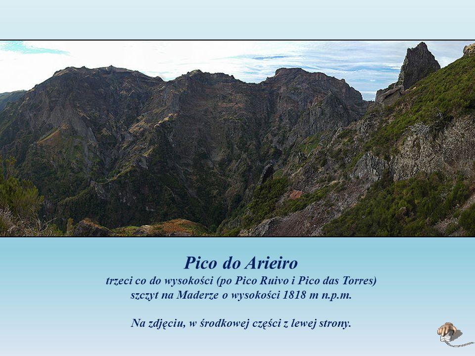 Pico do Arieiro trzeci co do wysokości (po Pico Ruivo i Pico das Torres) szczyt na Maderze o wysokości 1818 m n.p.m.