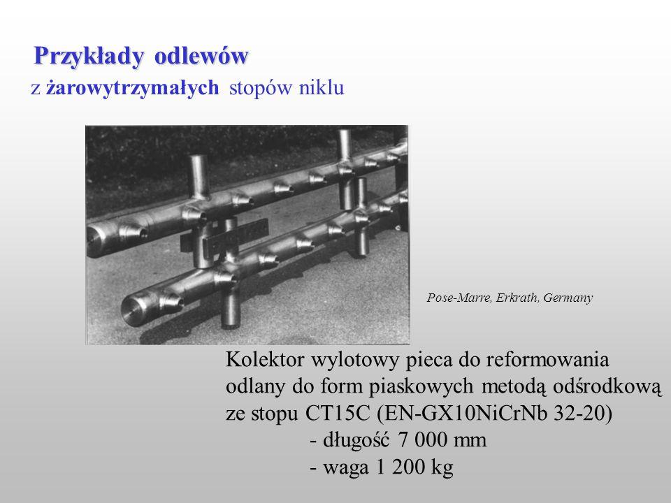 Przykłady odlewów z żarowytrzymałych stopów niklu