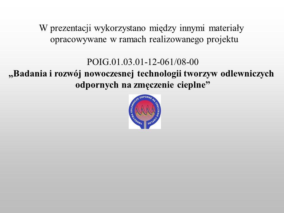 W prezentacji wykorzystano między innymi materiały opracowywane w ramach realizowanego projektu.