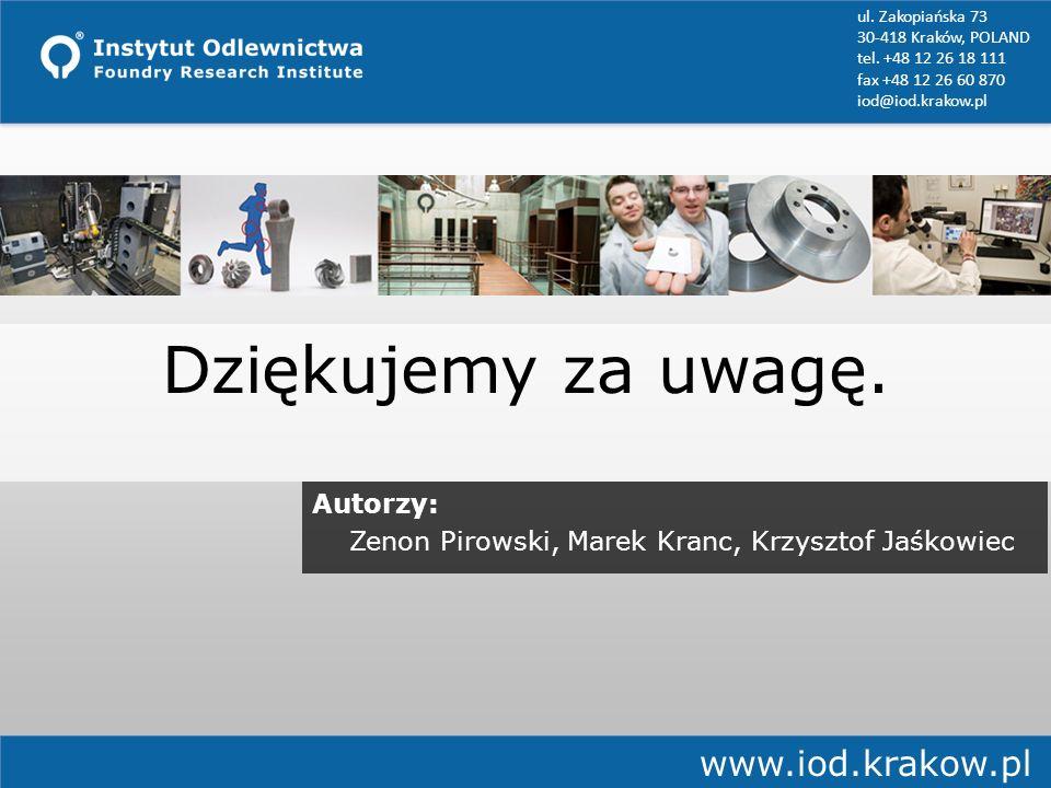 Dziękujemy za uwagę. www.iod.krakow.pl Autorzy: