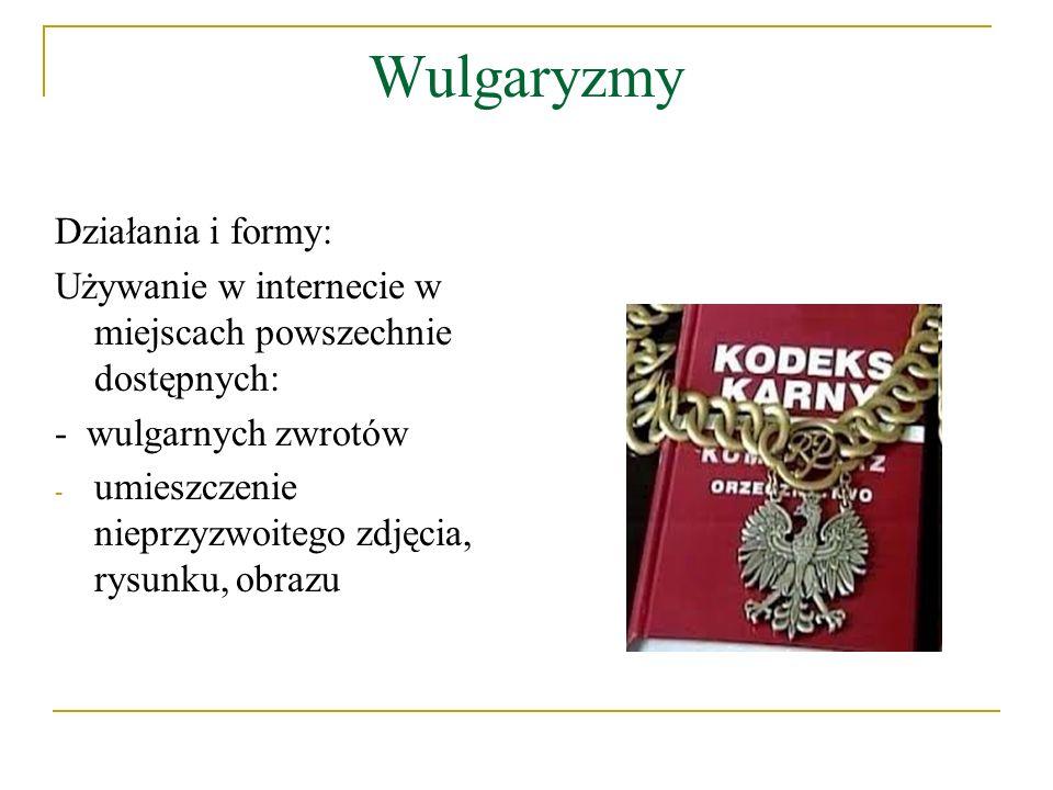 Wulgaryzmy Działania i formy: