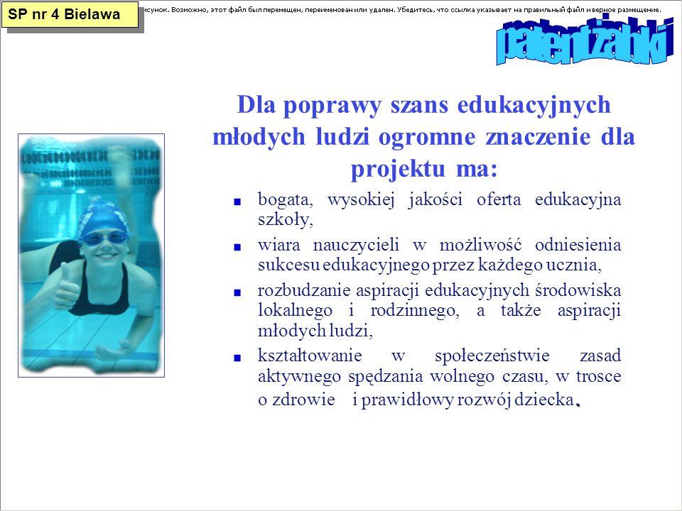 SP nr 4 Bielawa patent żabki. Dla poprawy szans edukacyjnych młodych ludzi ogromne znaczenie dla projektu ma: