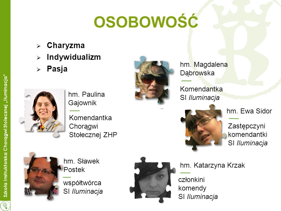 OSOBOWOŚĆ Charyzma Indywidualizm Pasja hm. Magdalena Dąbrowska