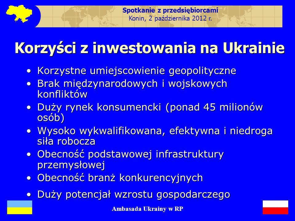 Spotkanie z przedsiębiorcami Korzyści z inwestowania na Ukrainie