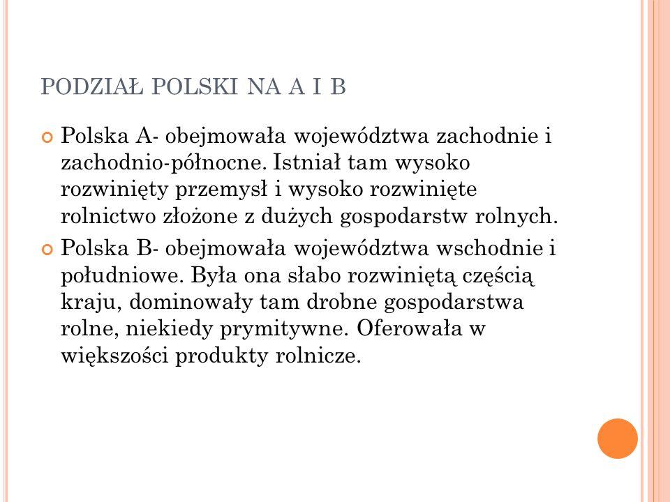 podział polski na a i b