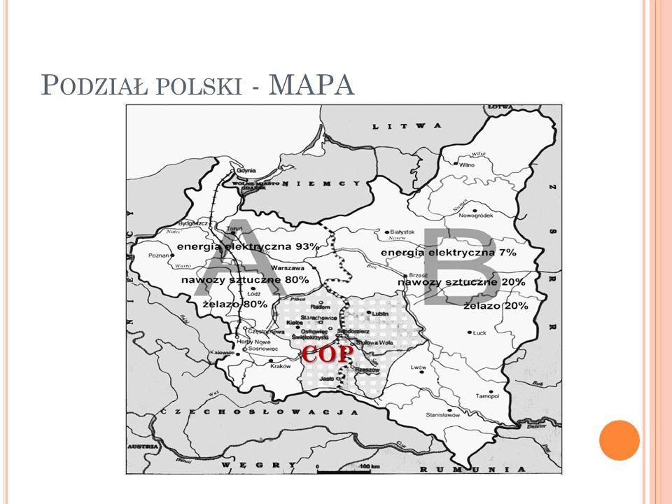 Podział polski - MAPA COP