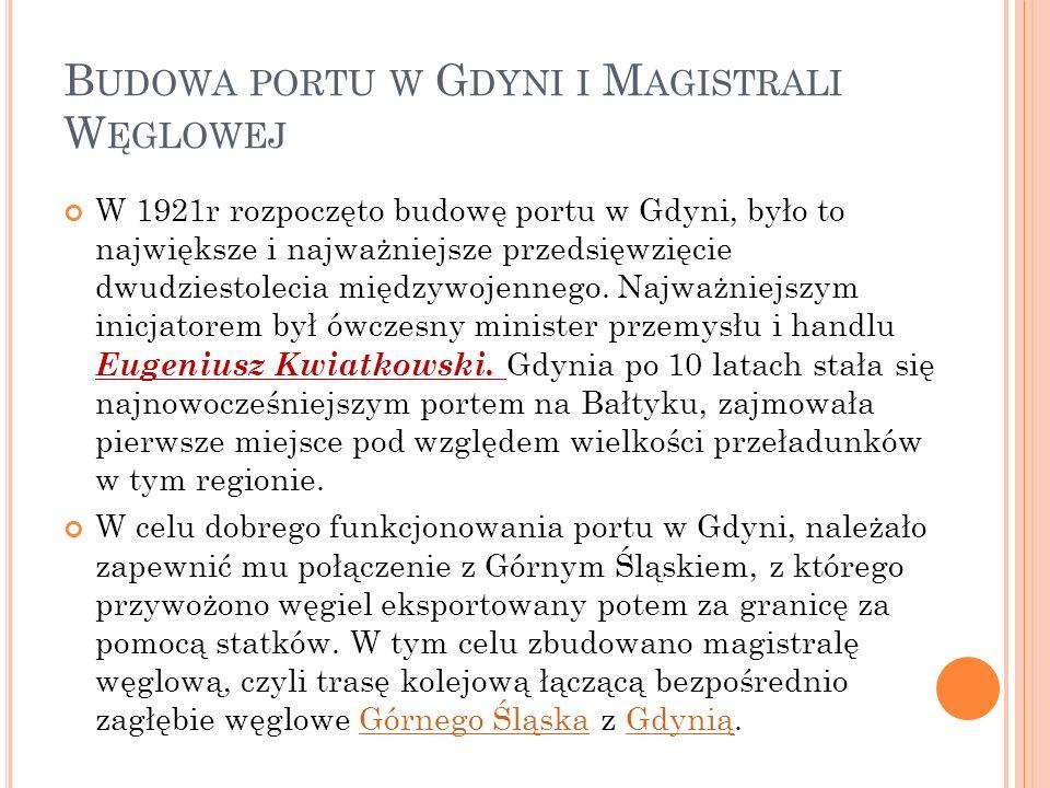 Budowa portu w Gdyni i Magistrali Węglowej