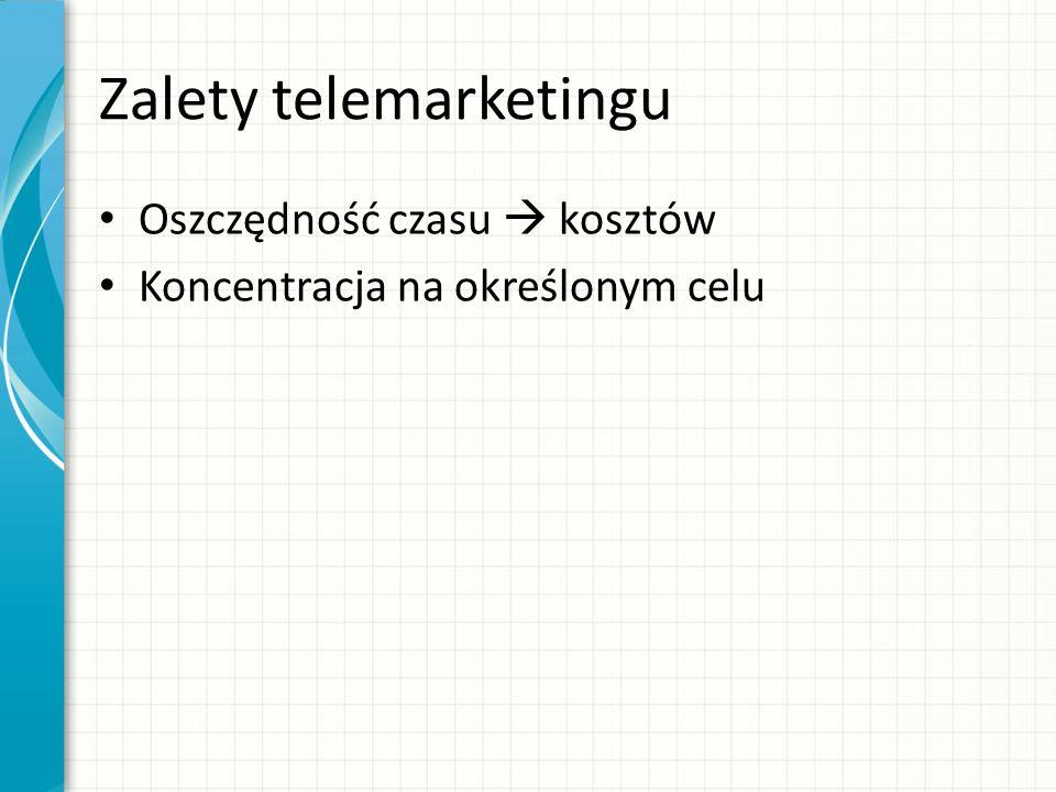 Zalety telemarketingu