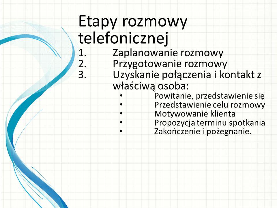 Etapy rozmowy telefonicznej