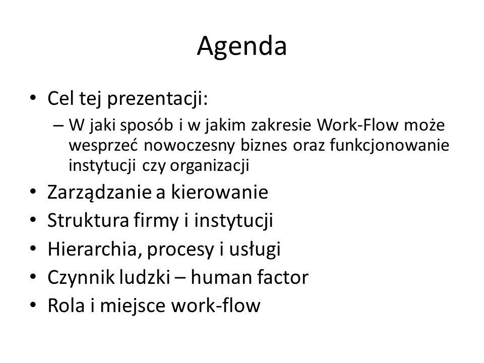Agenda Cel tej prezentacji: Zarządzanie a kierowanie