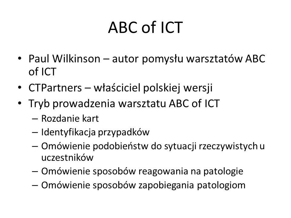 ABC of ICT Paul Wilkinson – autor pomysłu warsztatów ABC of ICT