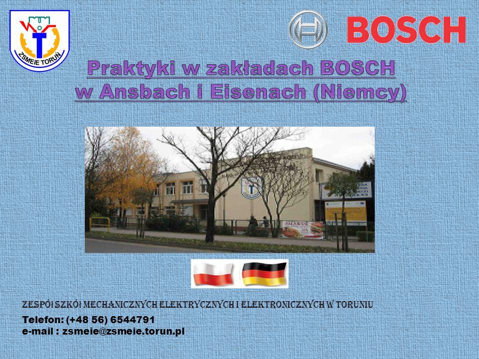 Praktyki w zakładach BOSCH w Ansbach i Eisenach (Niemcy)