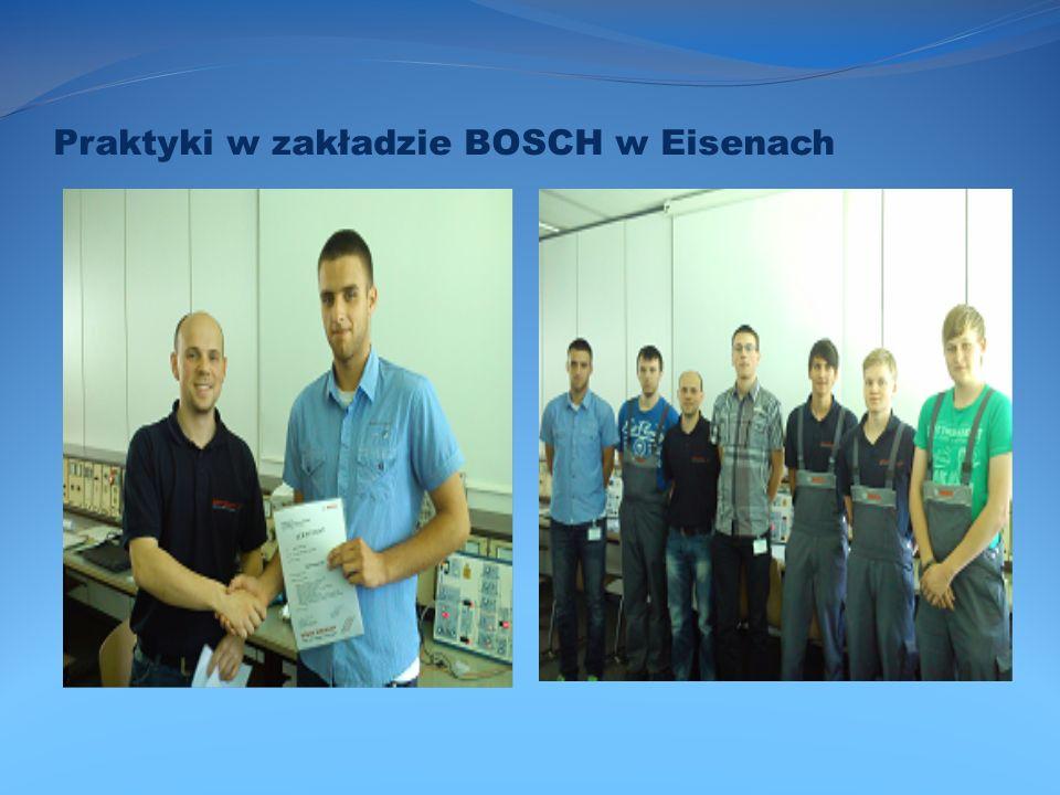 Praktyki w zakładzie BOSCH w Eisenach