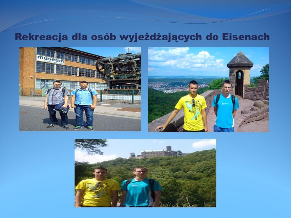 Rekreacja dla osób wyjeżdżających do Eisenach