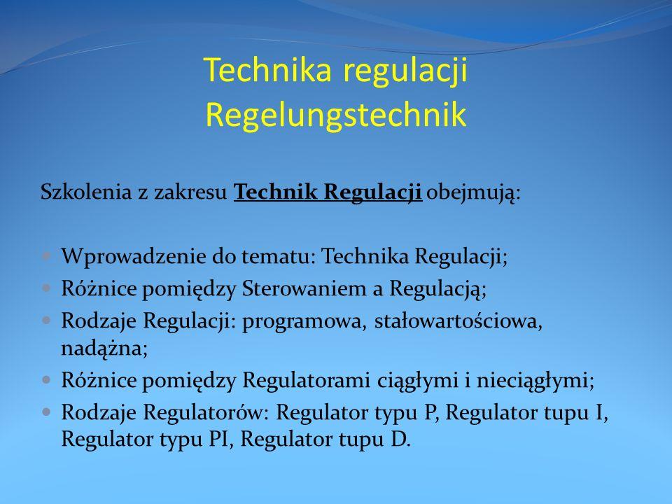 Technika regulacji Regelungstechnik